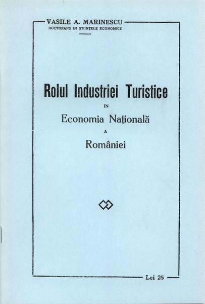 Conferință ținută de Vasile A. Marinescu la Academia Comercială, în 1933; lucrarea va fi reeditată, prin reproducere în facsimil, în 2007