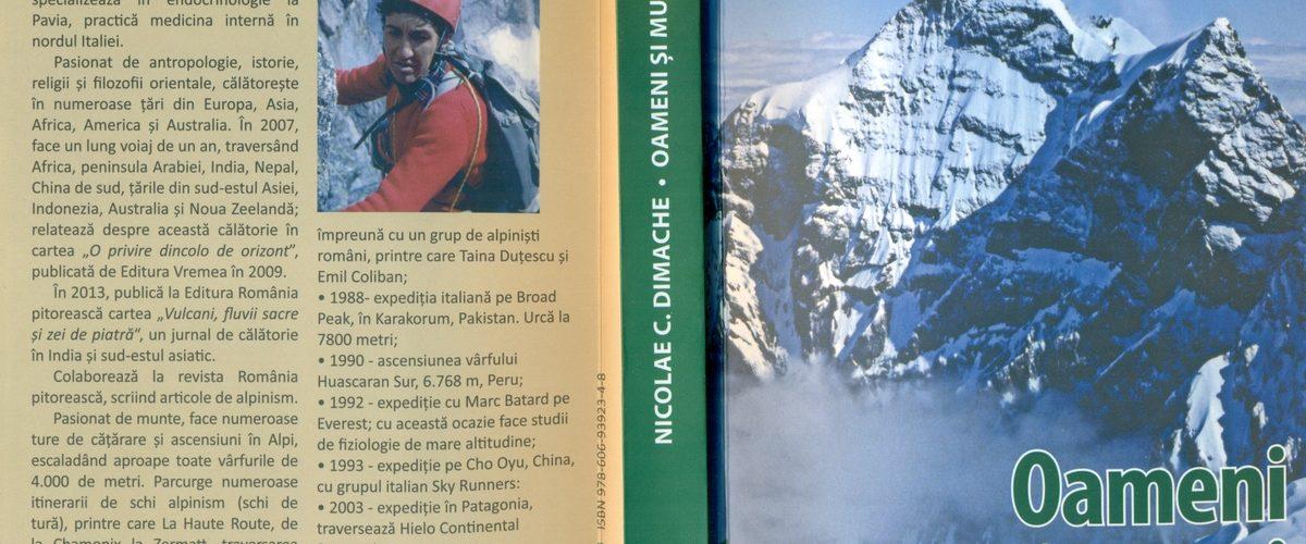 """O carte-eveniment:  """"Oameni și munți"""",  de Nicolae C. Dimache"""